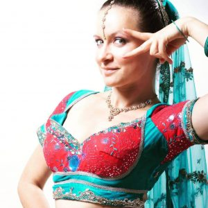 Mia in a bollywood costume